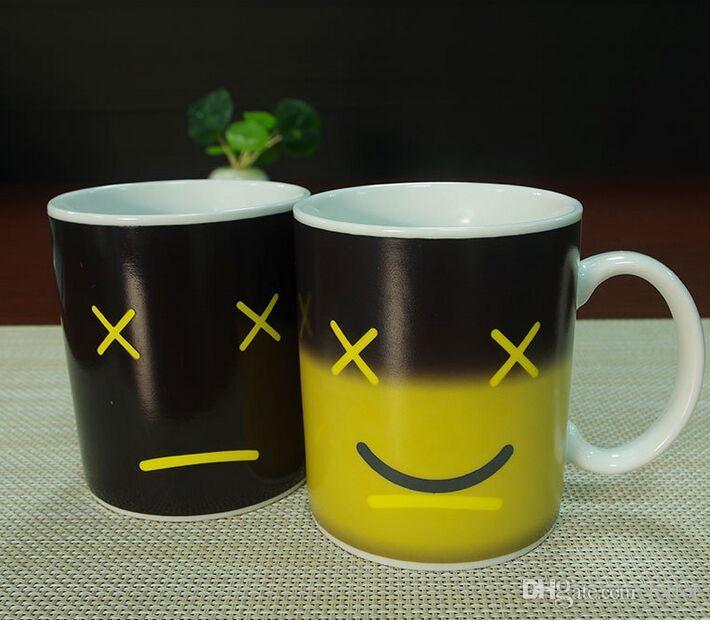 Aqueça Alterar Cup Caneca cor de café Sensitive Início Casa Mágica chá quente Reactive Fria Ceramic Coffee Tea Cup