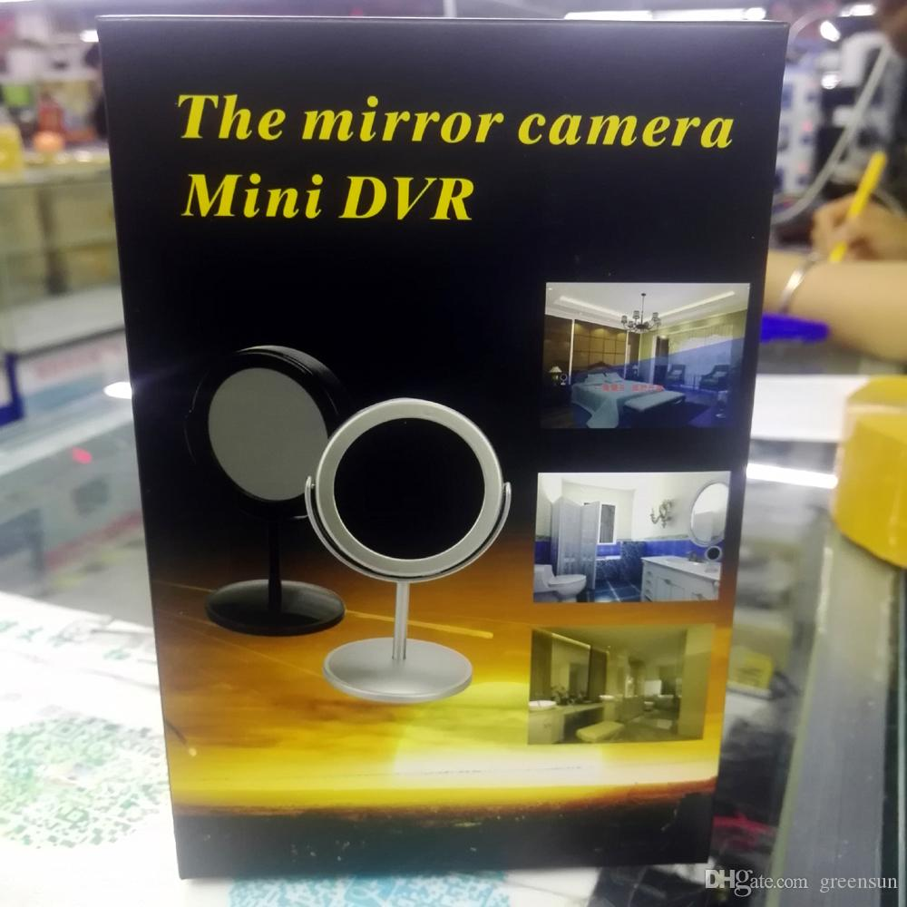 Mini Camera Mirror Motion Activated Video Recorder DV Camcorder with Audio Functionblack