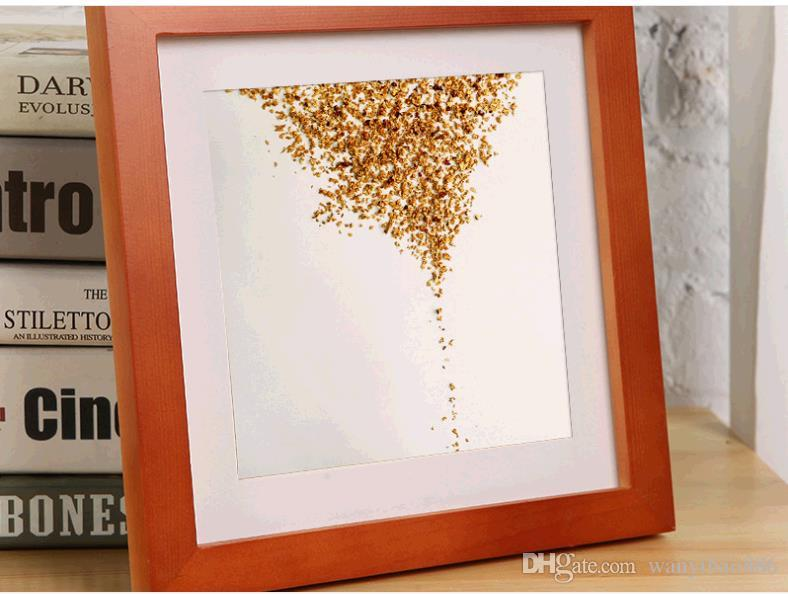 Solid wooden picture frame hanging wall posters wholesale 13 inches square studio photographs puzzle decoration as frames