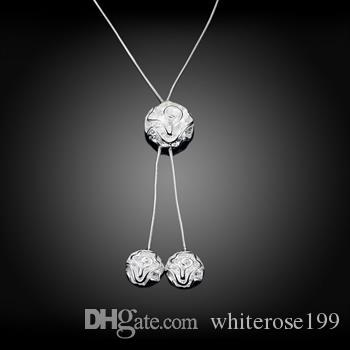 Wholesale - Retail lowest price Christmas gift 925 silver fashion Jewelry Necklace N036