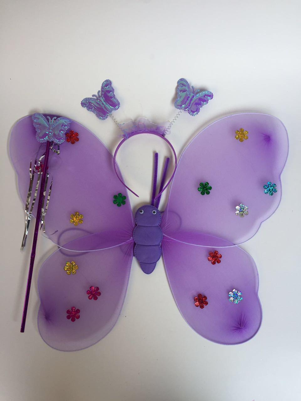 Children, children, performance props, angel wings, butterfly wings, three sets of photography props