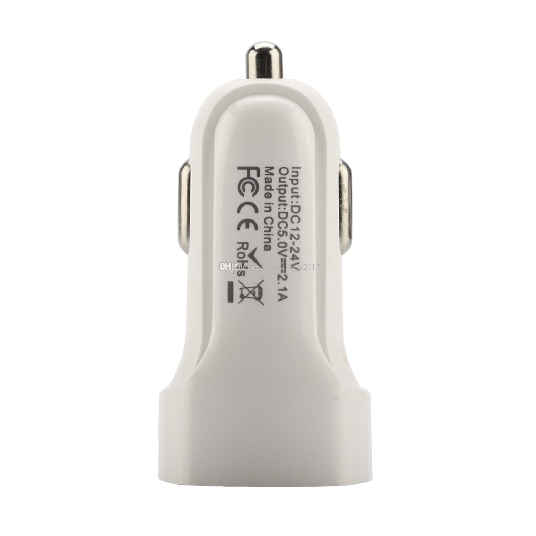مصغرة 5 فولت 2.1a السيارات محول الطاقة شاحن سيارة شاحن سريعة لفون سامسونج S8 ملاحظة 8 أندرويد الهاتف GPS