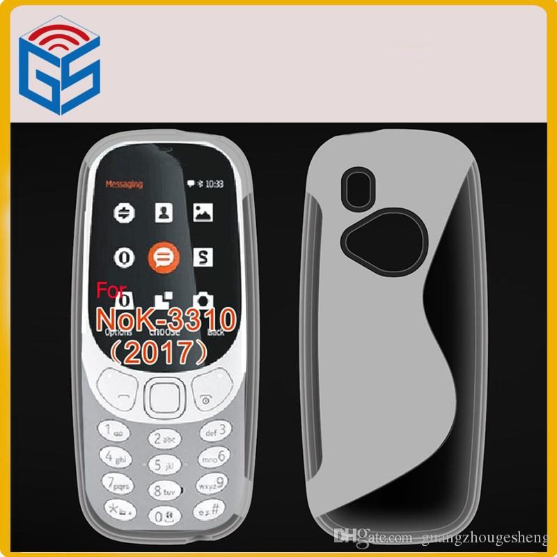 nokia 3330 2017. new arrivals s line soft gel tpu back cover cell phone housing case for nokia 3310 (2017) 3330 2017