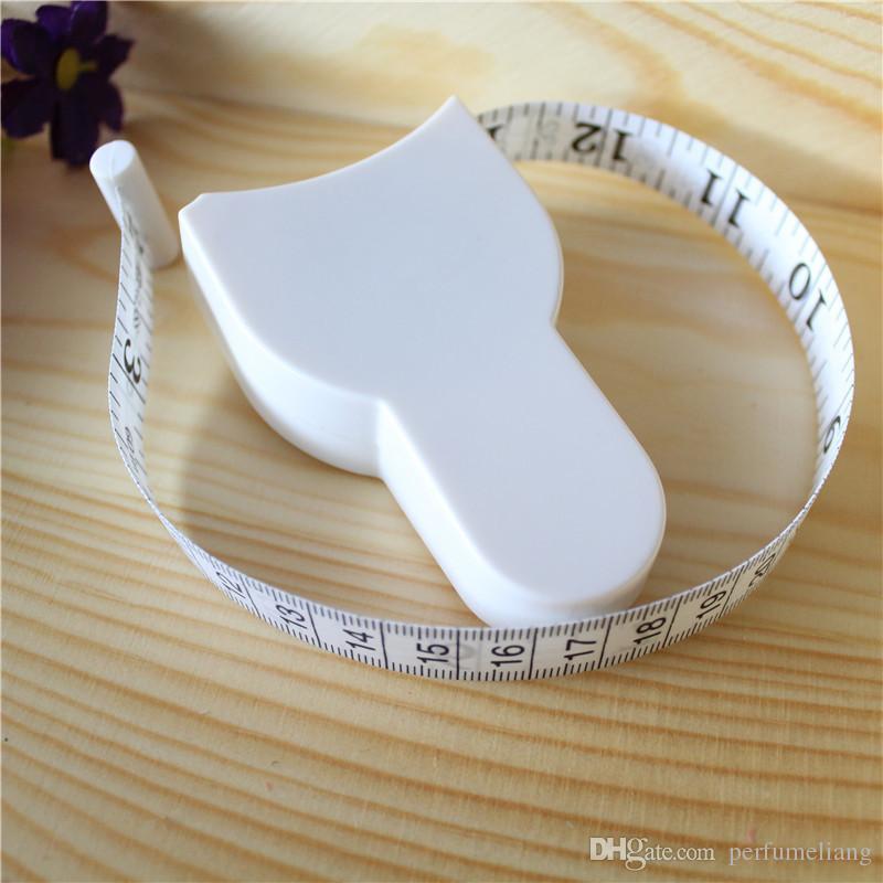Freies verschiffen 60 '' 150 cm Fitness Genaue Messschieber Maßband Körperfett Gewichtsverlust Messen Versenkbare Lineal WA2011