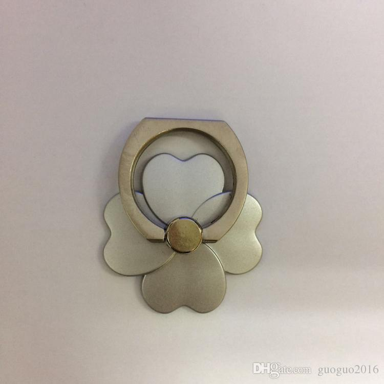 Ring Bracket Lucky Four Leaves Grass Series Lazy Ring Buckle Paste Type Flat Universal Cell Phone PC Holders s051