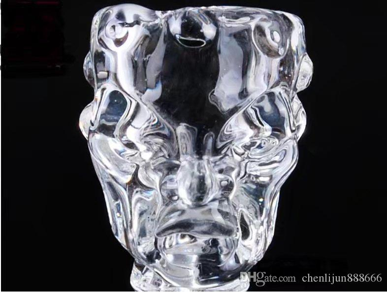 Прозрачная чаша для черепа, оптовые стеклянные трубки, стеклянные бутылки с водой, курительные принадлежности, бесплатная доставка