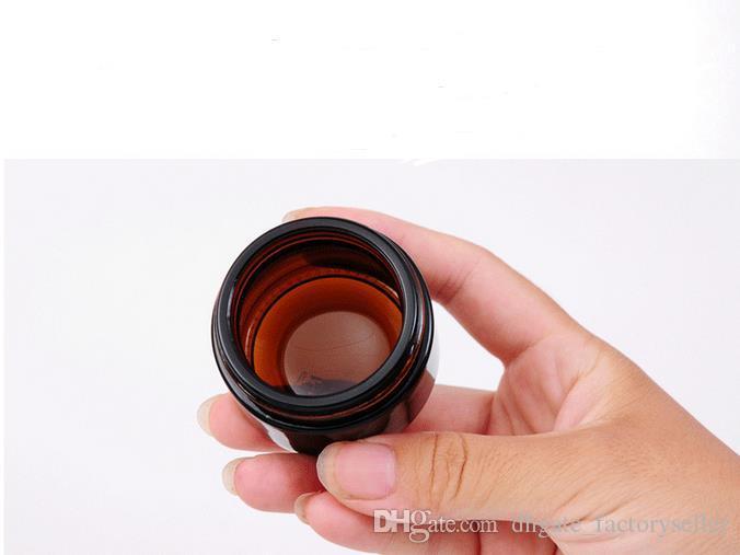 30 g braunes Braunglas mit schwarzem Deckel, 30 g Kosmetikdose, Verpackung für Augencreme, 30 g Flasche