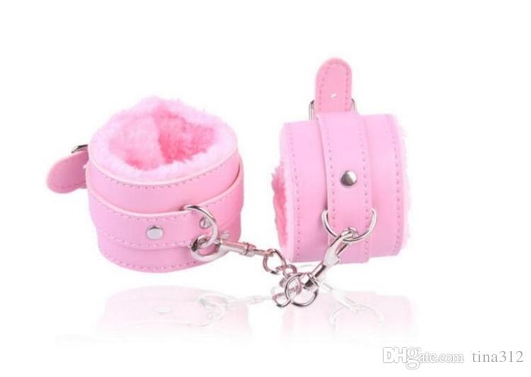 PU Leather Furry Comode manette Restrizioni Bondage Tools Flirting Tool principianti Sex toys for Couple for Women F0020