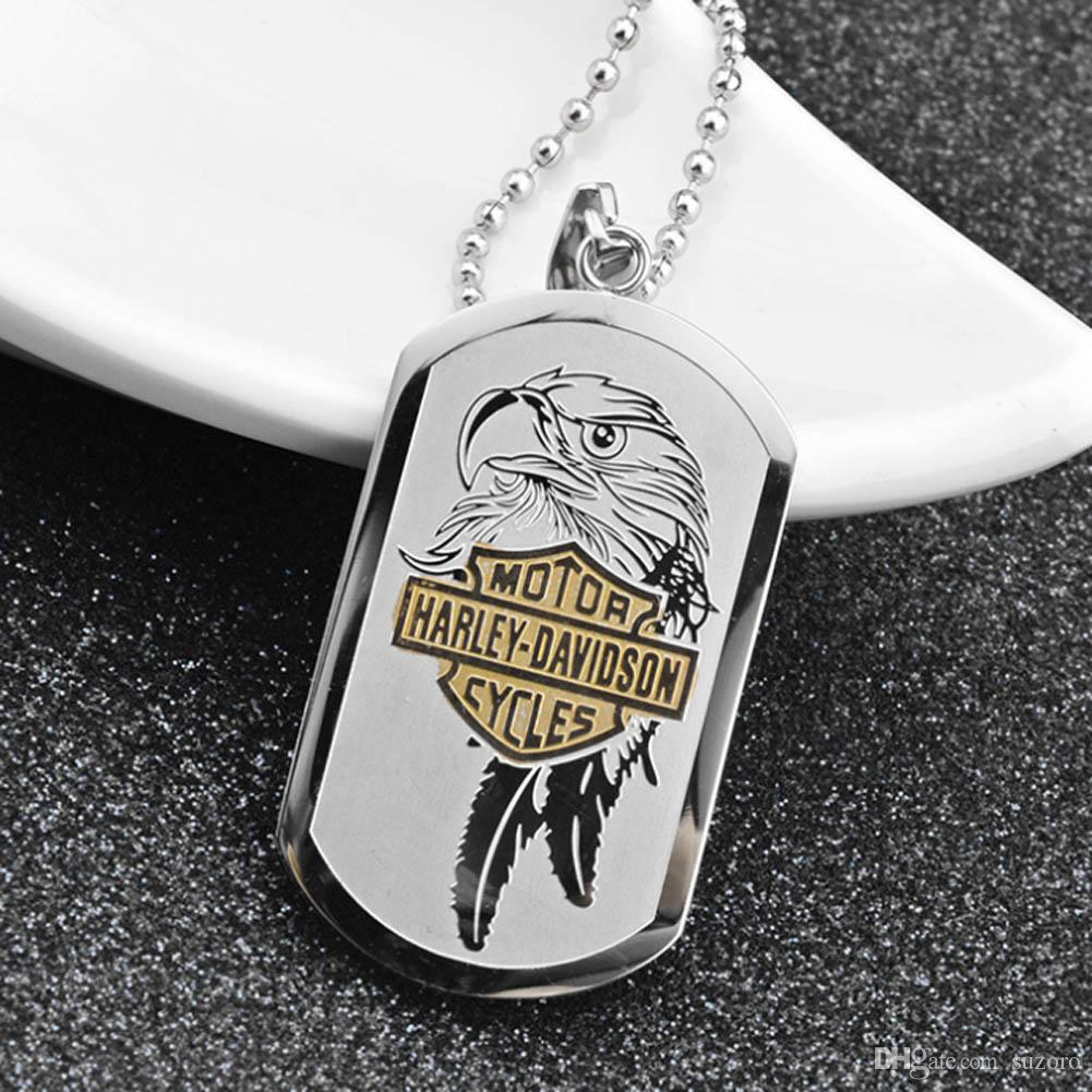 La personalidad dominante de los hombres de Europa y los Estados Unidos retro Punk Harley motocicleta Eagle colgante de titanio colgante
