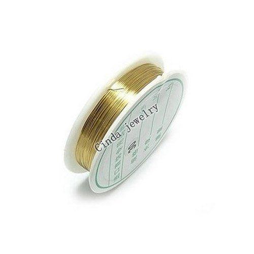 10ROLL / partia Ustalenia biżuterii Komponenty przewód miedziany do DIY Fashion Craft Prezent Wi2