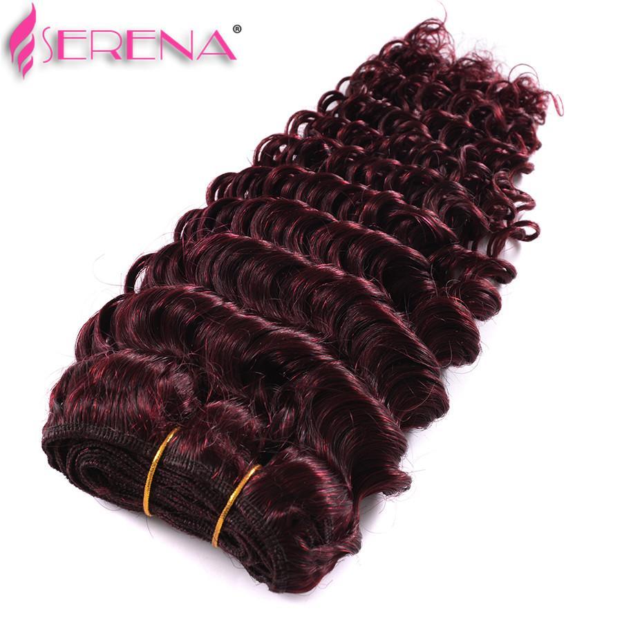 Burgundy Virgin Brazilian Human Hairs Weaving Tight Deep Curly Wine Red Hairs Weave 99J Kinky Curl Hair Bundle cheap hair extensions