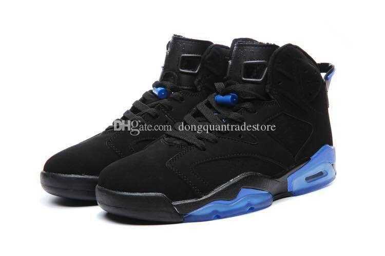 Basketball Shoes 6 Sneakers For Men Wholesale High Quality Black and Blue Sport Shoes Sneakers US 8-13