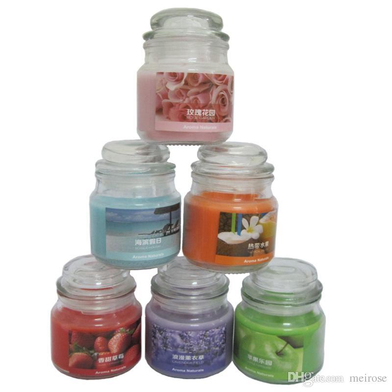 Compre 20 Horas Scented Velas Jar Candle Com Uma Variedade De Fragrancia Aroma Parafina Wax Aromatherapy Candles Codigo Do Produto 75 1010 Meirose