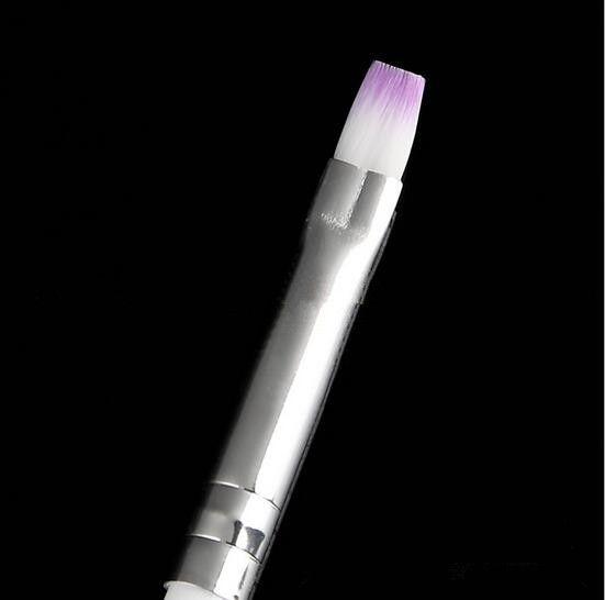 مسمار الفن فرشاة منشئ الأشعة فوق البنفسجية رسم لوحة فرشاة القلم للتقليم