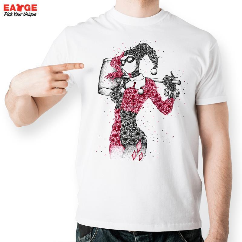 010bae1cde1 Joker Lady Harley Quinn T Shirt Design From DC Comic Batman T Shirt Top  Cool Novelty Tshirt Fashion Unisex Printed Style Tee 10 T Shirts Cool Shirts  Designs ...