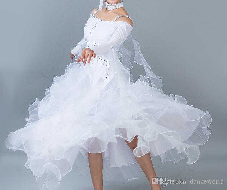 Standart balo salonu elbise balo salonu dans yarışması elbiseler vals elbise kostüm danse 6 renk flamenko dans elbiseler
