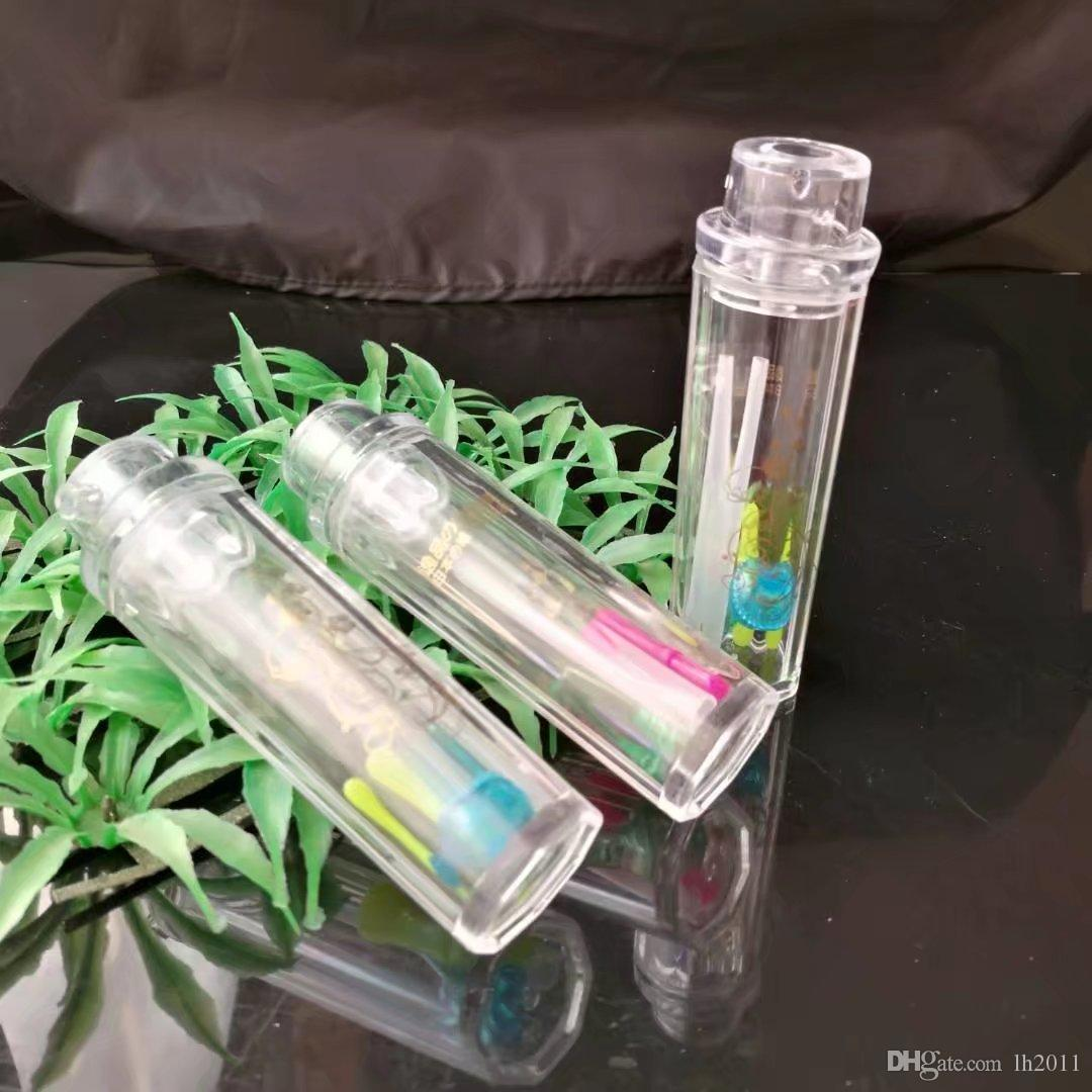 Yipu Acrílico Mini Lidar Com Pote, Novo Exclusivo Vidro Bongos Tubos De Água Tubulações De Água Hookah Oil Rigs Fumo com Droppe