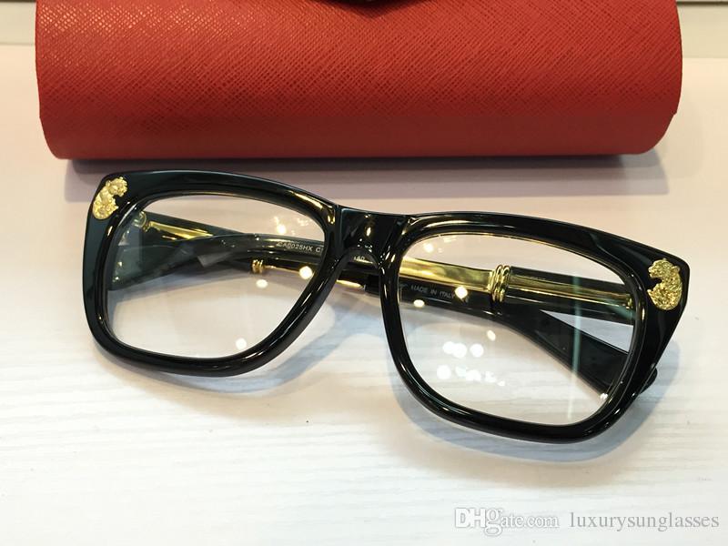 Medusa 0025HX Óculos Óculos de Armação Do Prescrição Do Vintage 0025 Mulheres Óculos De Marca De Grife Com Caso Original Retro Design Banhado A Ouro