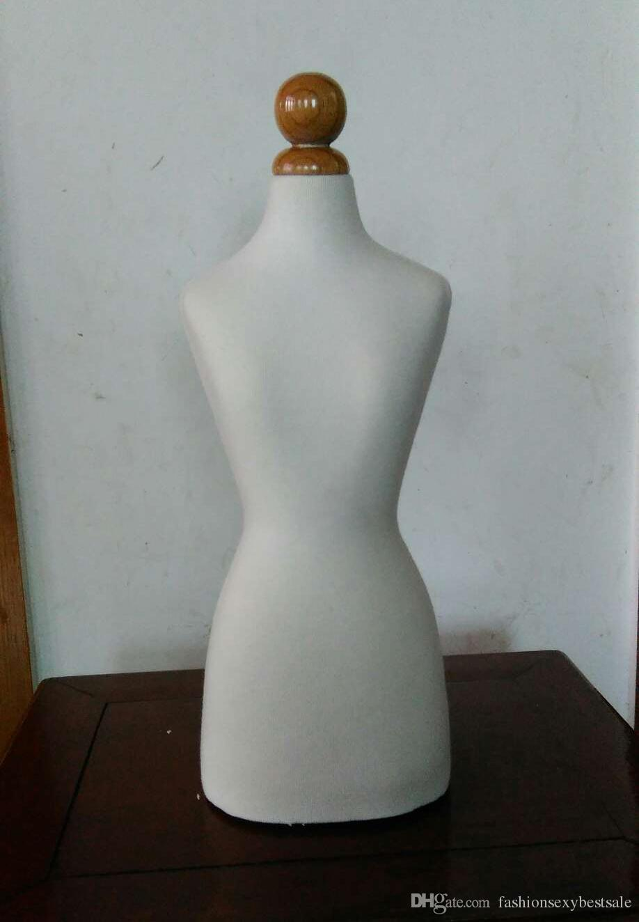 ! New EMALE manequim busto,Half Size Dress Form 1/2bust mannequin1:2 clothing half to cut the villain,without botton wood M00020