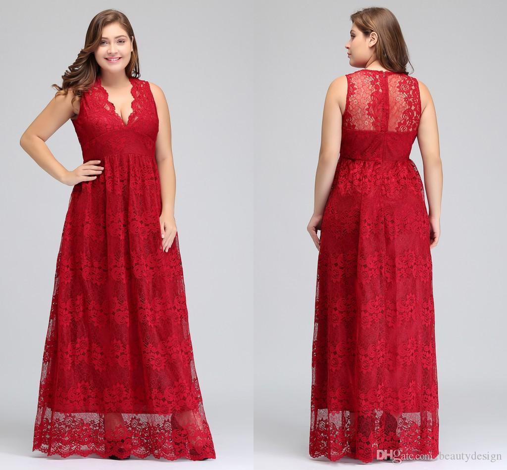 Plus Size Special Occasion Dress Prom Dresses 2017 Lace A Line ...