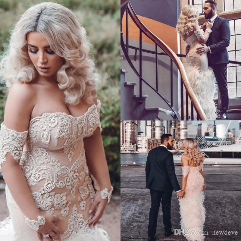 Plus Size Mermaid Wedding Dresses Lace Bo Ho Strapless Wedding