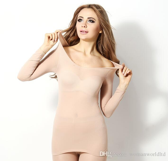 2017 Hot Winter 37 Degree Women Slimming Thermal Underwear Ultrathin Heat Long Johns Elastic Seamless Body Suit