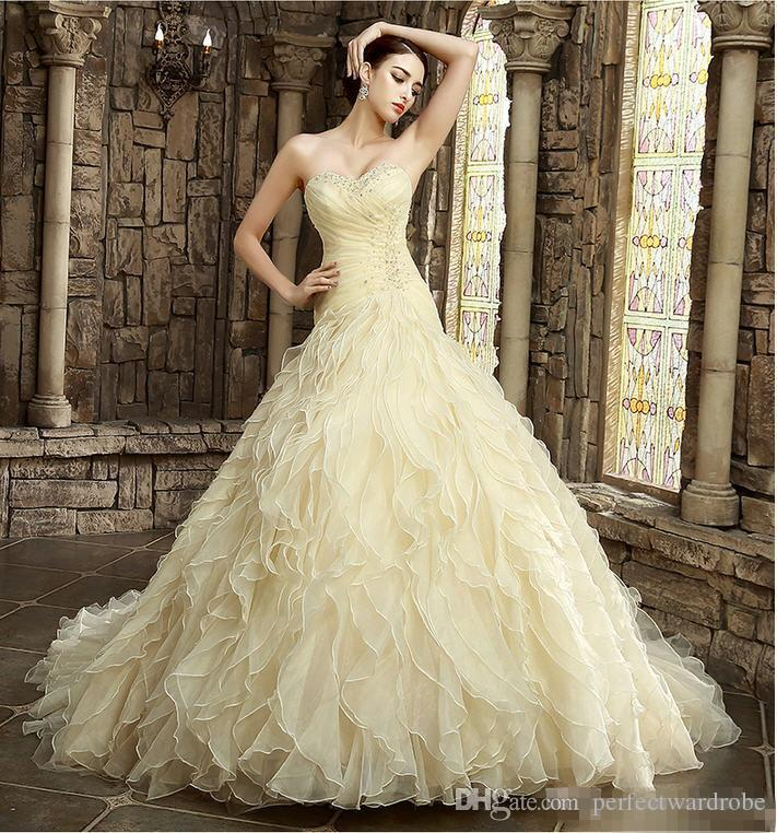 2017 yellow wedding dresses online colorful wedding dresses wave details alternative bridal gowns colored beautiful a line dresses special