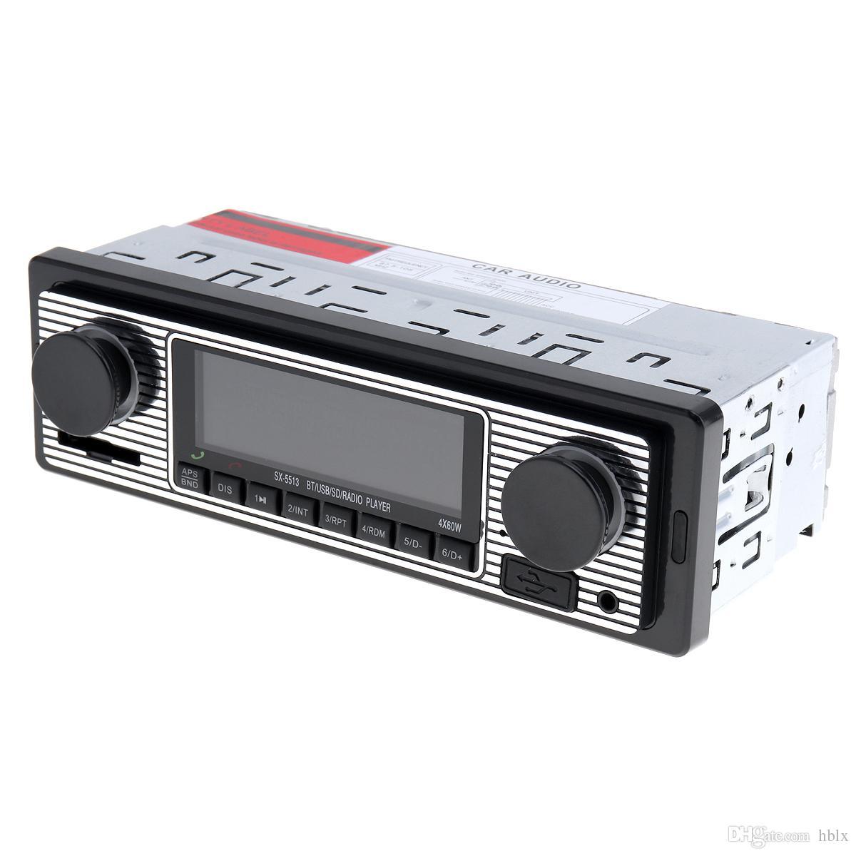 Autoradio Bluetooth 12 V Lecteur MP3 Stéréo pour véhicule Prise en charge audio FM / USB / SD / AUX avec télécommande CAU_01Z