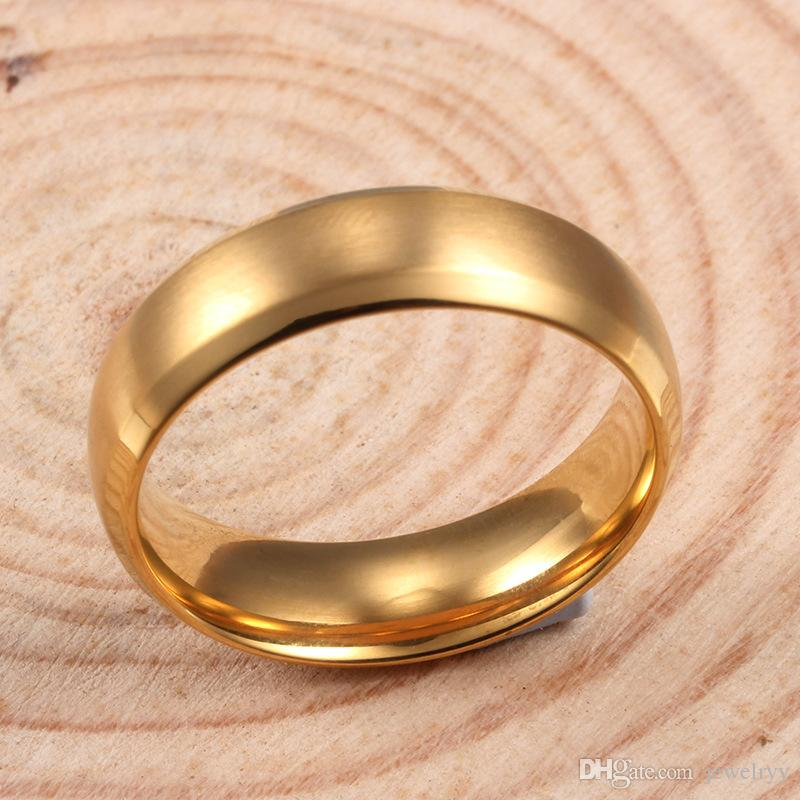 6mm Blue Titanium Rings Stainless Steel Band Rings Man Women Engagement Wedding Ring Christmas Party Gifts