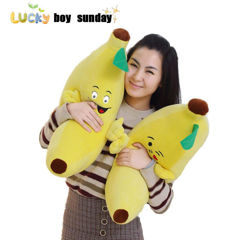 Wholesale Lucky Boy Sunday Banana Plush Toy Soft Plant Banana Pillow ...