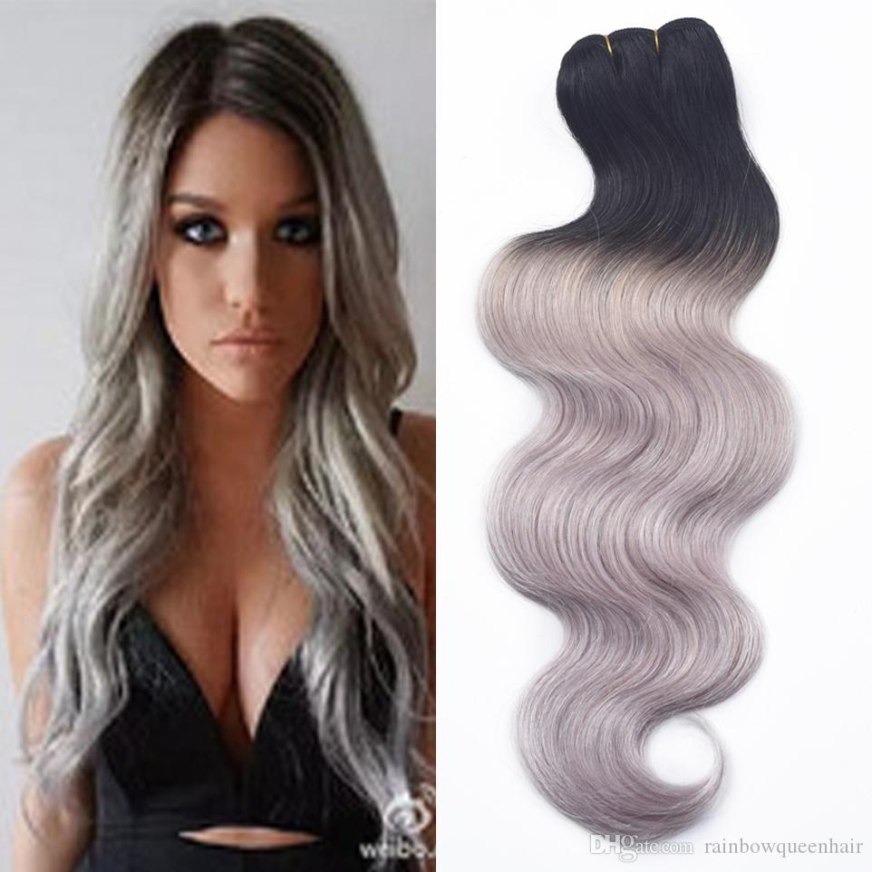 Platinum human hair weave online platinum blonde human hair new 3 pcs 7a human virgin hair ombre brazilian body wave grey hair weave platinum silver gray ombre hair extensions 3 bundles pmusecretfo Choice Image