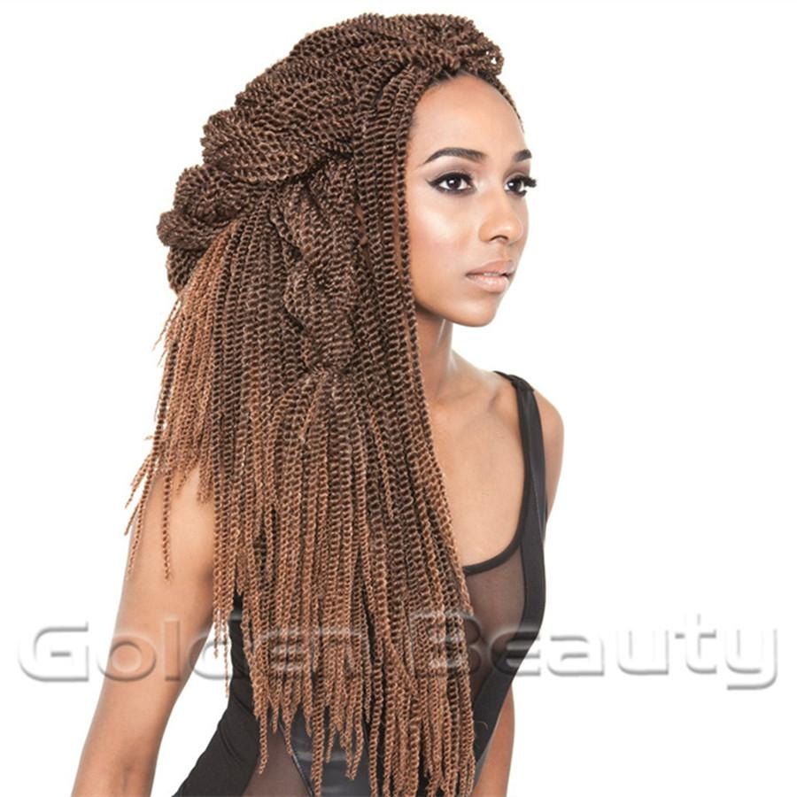 Wholesale New Fashion Folded Senegalese Synthetic Hair Extension 18