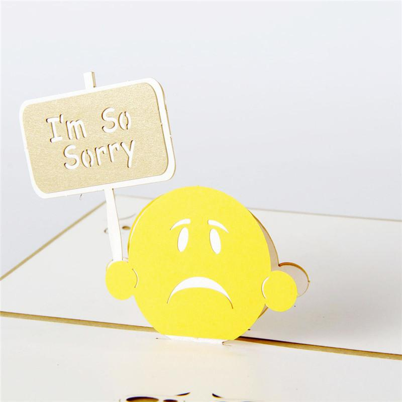 picture about Printable Sorry Cards called 10personal computers/good deal Laser Slice Invites 3D Pop UP Card I m Consequently Sorry GreetingGift Playing cards
