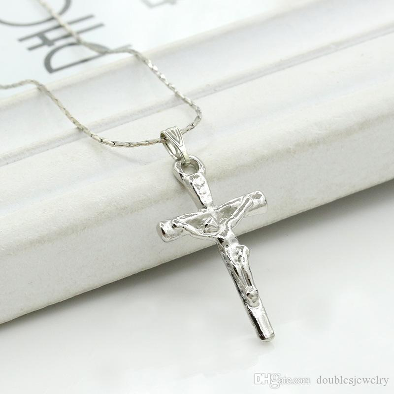 Europe and the United States new Jesus cross necklace, exquisite ornaments, pendants, accessories, clavicle chain sold in bulk