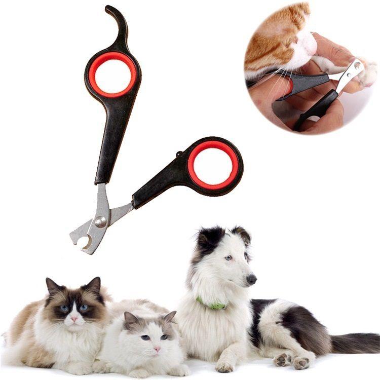 Yüksek kalite Pet köpek kedi bakımı tırnak makası makas bakım Giyotin 12 * 6 cm Siyah renk PET malzemeleri IC750