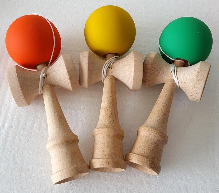Kendama Ball Toy elasticity painting beech Wooden Japanese Traditional Funny Sword ball Game Education Toy Christmas gift