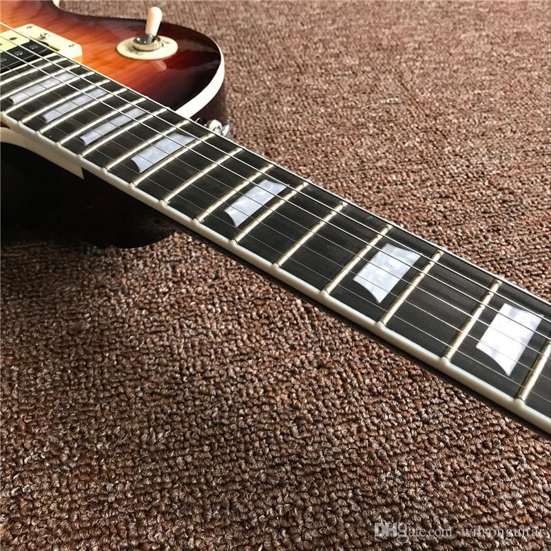 Vente! La guitare électrique standard de haute qualité, couleur sunburst, guitare électrique d'acajou OEM, peut être beaucoup de personnalisation,