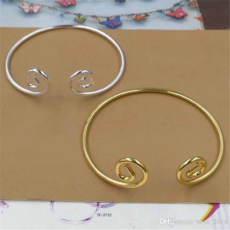 BoYuTe 5 Stücke HEIßER Verkauf DIY Metall Armreif Linie Twist Mode Sun Wukong Gold Silber Armreif