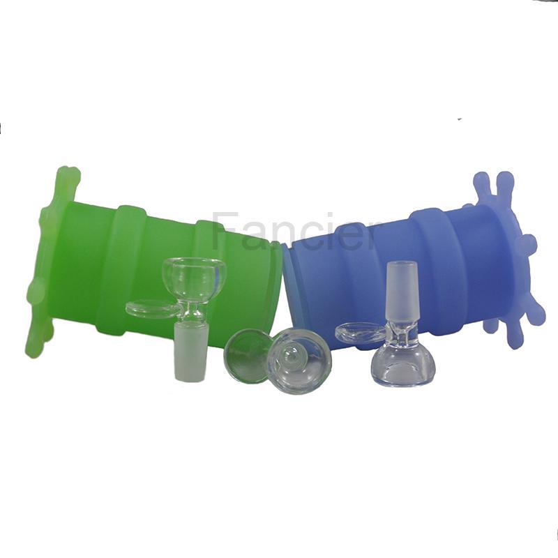 Nouveau Mini Silicone Bongs Pipes D'eau Bongs En Verre À Base de Plantes Dab Oil Rig Pipes D'eau En Verre Bongs Coloré