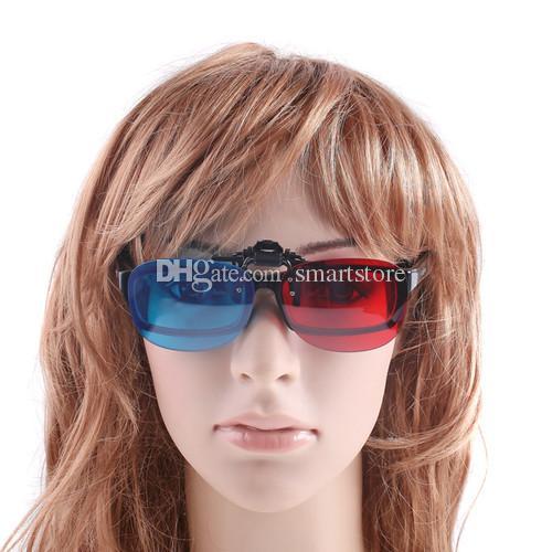 / clip blu ciano blu rosso sugli occhiali della struttura di miopia i giochi dei film 3-D liberano il trasporto 0001