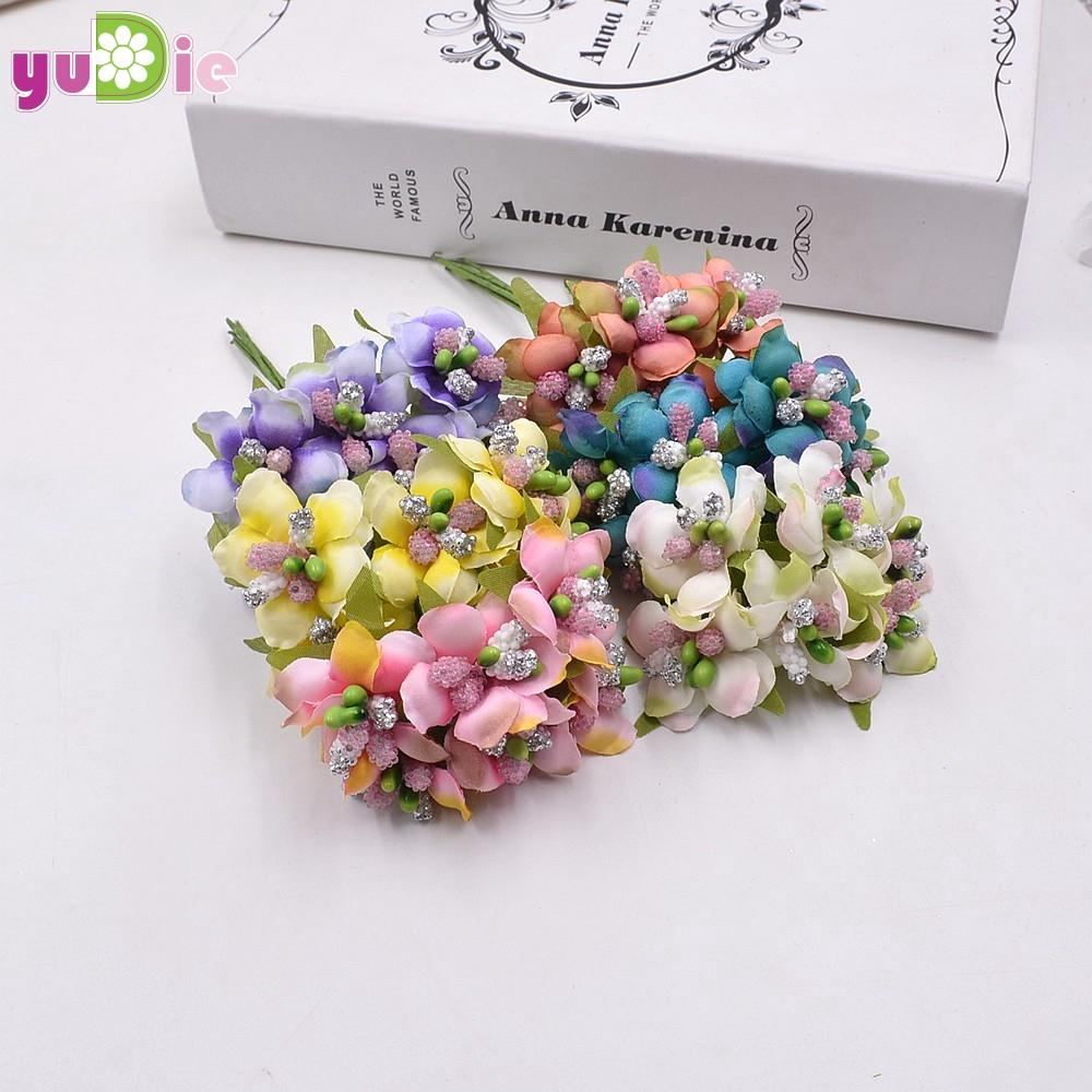 2018 Wholesale Silk Gradient Stamen Handmade Artificial Flower