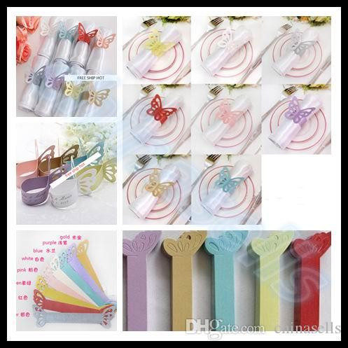 Restaurant Butterfly wedding Napkin Ring Table Decor Napkin Holder Hotel Napkin holder Festive Party Supplies Dinner Banquet Table Decoratio