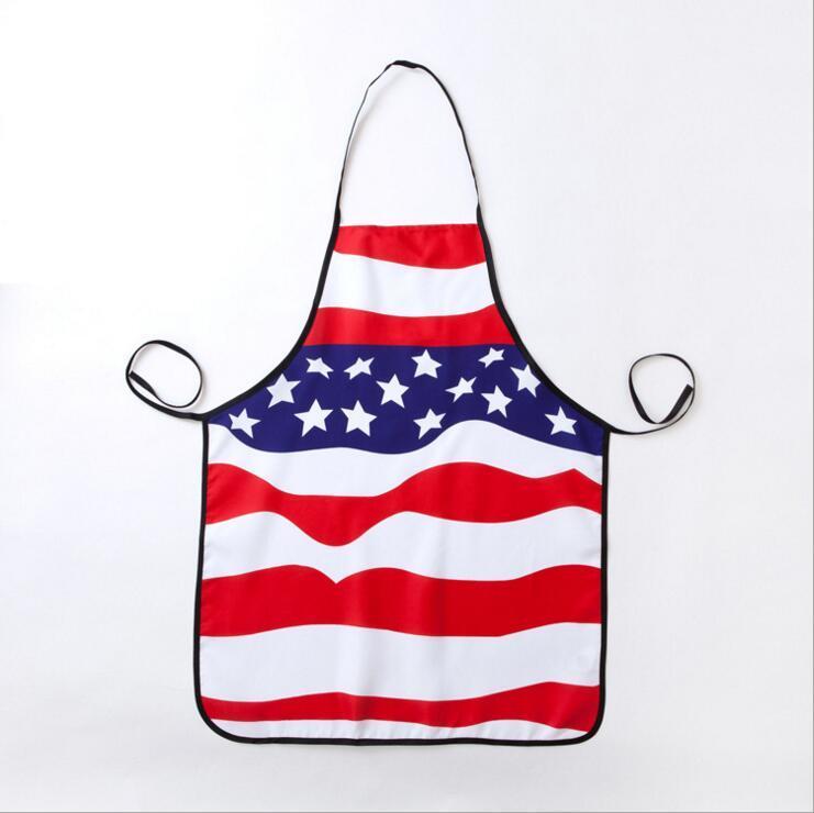 Tablier de polyester Cuisine Cuisine des États-Unis Tablier National Flag Pattern forWomen hommes Cadeau 74 * 56cm A propos de