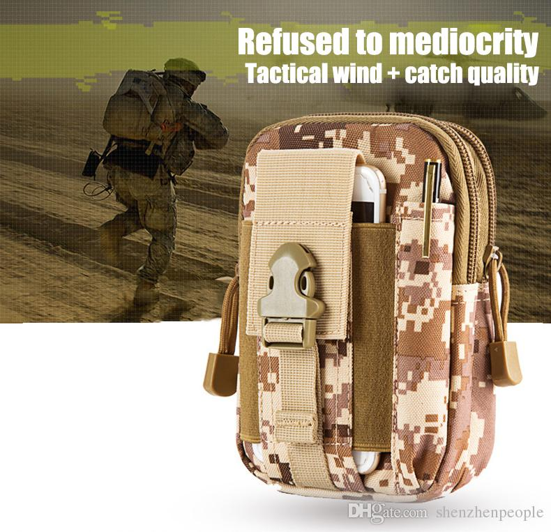 Pour homtom tactique molle molle molle portefeuille porte-portefeuille homme sport extérieur sport casse-tête casse-tête cassette camo camo camo camouflage sac