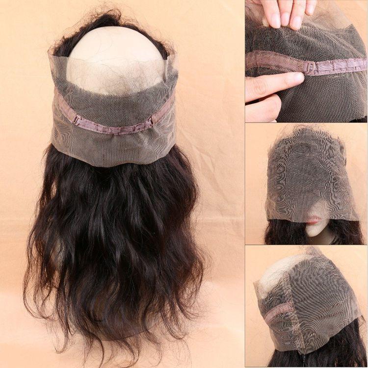 360 lace frontal full lace closure virgem brasileiro do cabelo humano natural da linha fina reta peruano indiano extensões de cabelo malaio