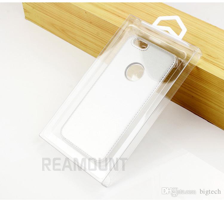DIY fertigen LOGO PVC-Verpackenkasten für iphone 7 7plus Handy-Fall-Abdeckung mit buntem innerem Behälter besonders an