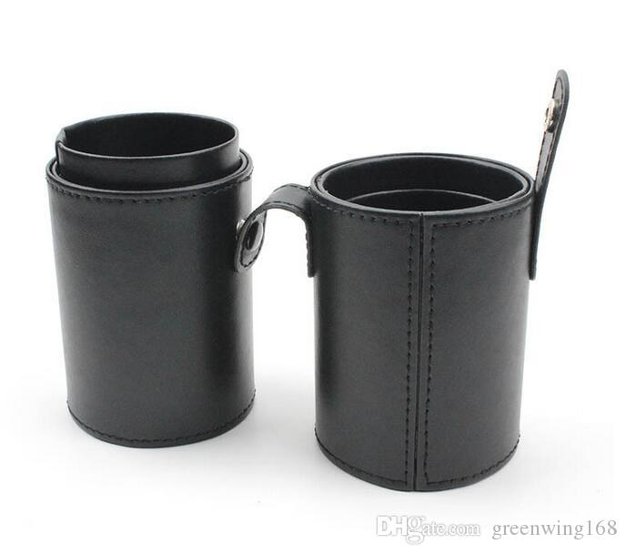 PU Leather Multifunction Empty Portable Makeup Brush Pen Holder Cup Cylinder Cosmetic Brush Storage Case Organizer