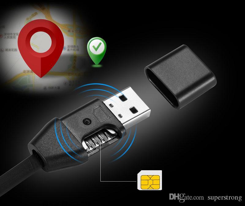 Nuovo USB Cable Tracker HS8 Voice Callback Tracking miniatura in miniatura Anti-lost Burgla Tracker Vehicle Car Localizzatore GPS Cavo dati USB