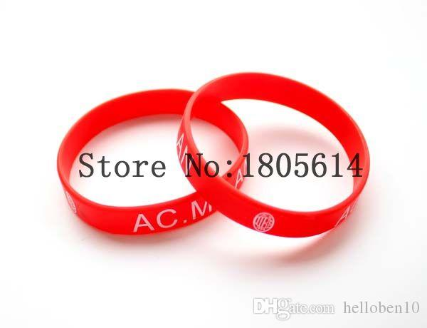 Heat! New red team sports wristbands 100% silicone Gym Fitness bracelet can be delivered free of charge wholesale