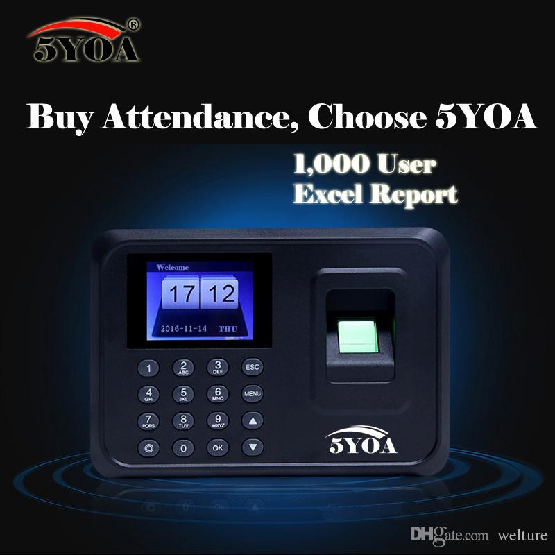 Biometric Fingerprint Time Clock Recorder Attendance Employee Digital  Machine Electronic Standalone Punch Reader